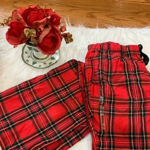 Victoria's Secret red plaid pajama pants